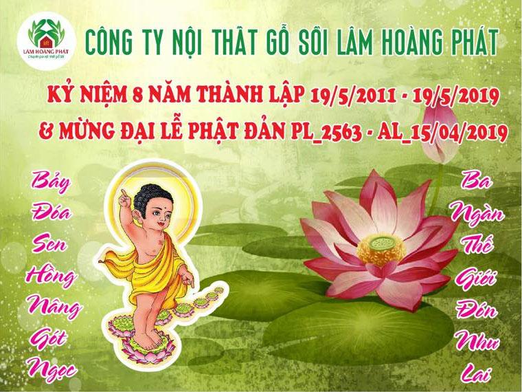 Kỷ niệm 8 năm thành lập Cty 19/5/2011 - 19/5/2019 & Mừng lể Phật Đản 15/4/2019 AL